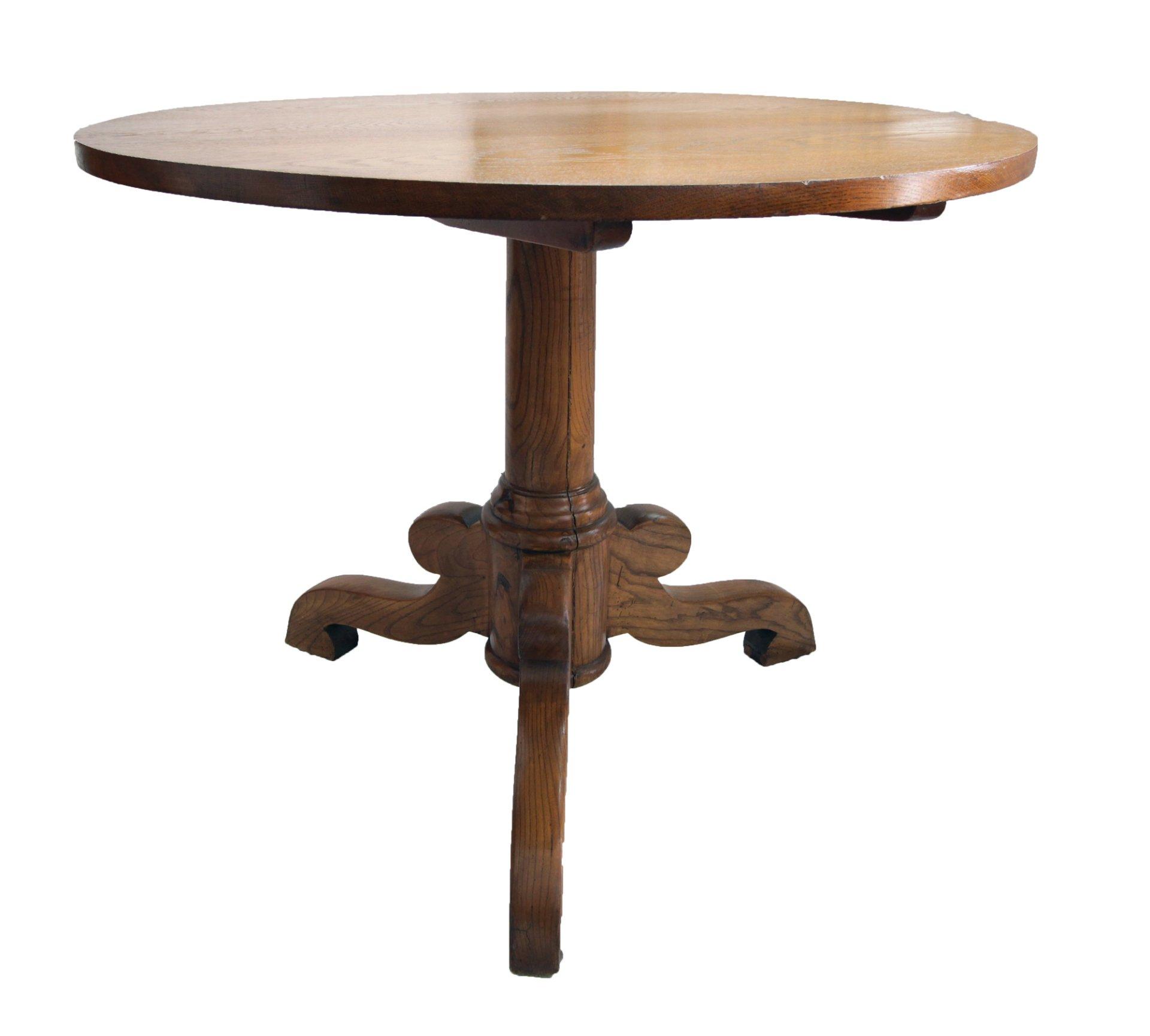Kleiner Runder Tisch Eiche Historismus Antik Antiquitäten