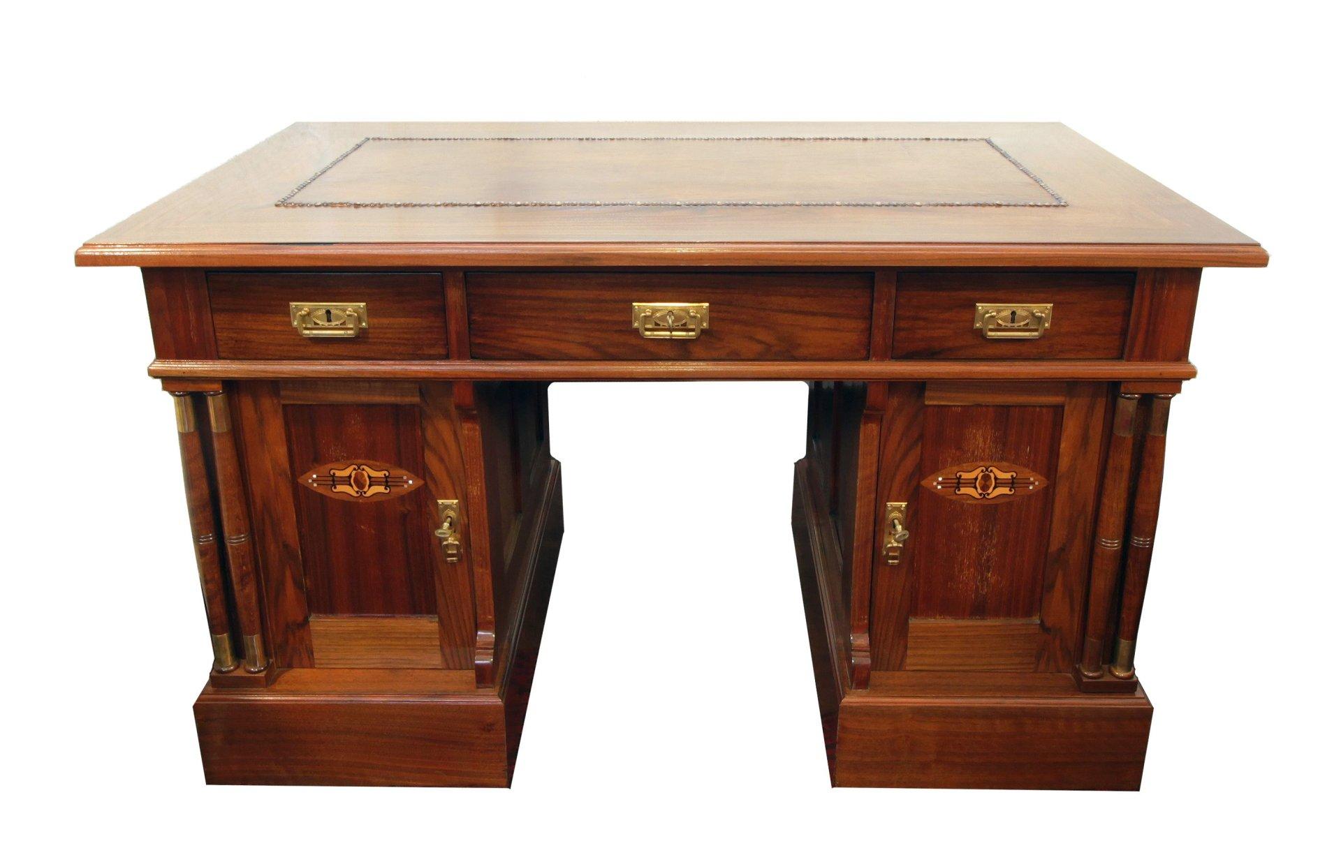 Schreibtisch Nussbaum Jugendstil Antik Antiquitäten