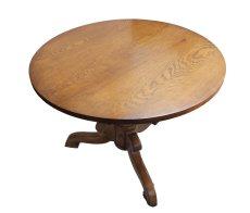 Kleiner Runder Tisch - Eiche - Historismus  - Antik - Möbel - Antiquitäten
