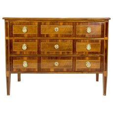 3-schübige Spitzfuss Kommode - Nussbaum - Klassizismus  - Antik - Möbel - Antiquitäten