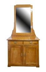 Halbschrank mit Spiegel - Kirschbaum - Jugendstil  - Antik - Möbel - Antiquitäten