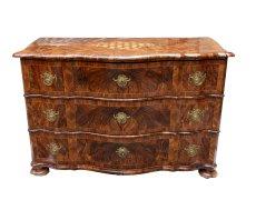 Kommode - Nussbaum - Barock  - Antik - Möbel - Antiquitäten