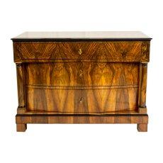 Kommode - Nussbaum - Biedermeier  - Antik - Möbel - Antiquitäten