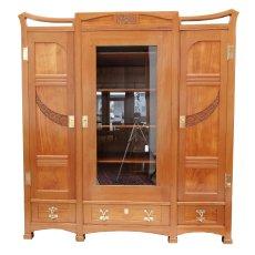 Bücherschrank - Esche - Jugendstil  - Antik - Möbel - Antiquitäten