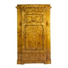 Schrank, 1-türig - Birke - Biedermeier  - Antik - Möbel - Antiquitäten