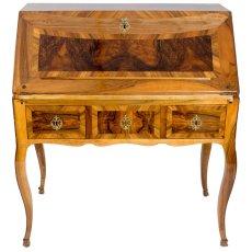 Schrägklappensekretär - Nussbaum - Barock  - Antik - Möbel - Antiquitäten