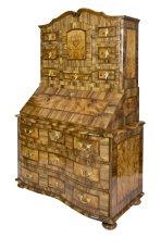 Tabernakel Sekretär - Nussbaum - Barock  - Antik - Möbel - Antiquitäten