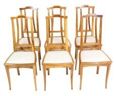 6er Satz Stühle - Nussbaum - Jugendstil  - Antik - Möbel - Antiquitäten