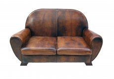 Clubsofa - Leder - Art Deco  - Antik - Möbel - Antiquitäten
