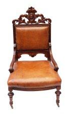 Ledersessel - Buche - Gründerzeit  - Antik - Möbel - Antiquitäten