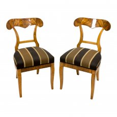Paar Schaufelstühle - Nussbaum - Biedermeier  - Antik - Möbel - Antiquitäten