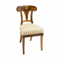 Schaufelstuhl - Nussbaum - Biedermeier  - Antik - Möbel - Antiquitäten