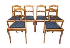 Stühle, 6er Satz - Kirschbaum - Biedermeier  - Antik - Möbel - Antiquitäten