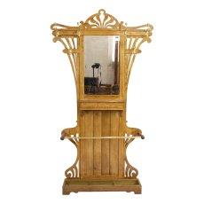 Garderobe - Eiche - Jugendstil  - Antik - Möbel - Antiquitäten