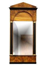 Pfeilerspiegel - Nussbaum - Biedermeier  - Antik - Möbel - Antiquitäten