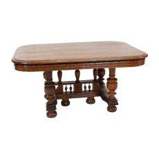 Niedriger Tisch - Eiche - Henry Deux  - Antik - Möbel - Antiquitäten