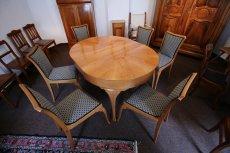 Tischgruppe - Birnbaum - Jugendstil  - Antik - Möbel - Antiquitäten