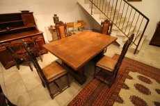 Tischgruppe - Eiche - Historismus  - Antik - Möbel - Antiquitäten