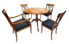 Tischgruppe - Kirschbaum - Biedermeier  - Antik - Möbel - Antiquitäten
