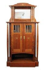 Vertiko - Nussbaum - Jugendstil  - Antik - Möbel - Antiquitäten